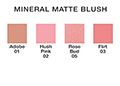 Mineral Matte Blush Medium Refill Chart