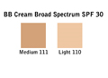 BB Cream Broad Spectrum SPF 30 Chart
